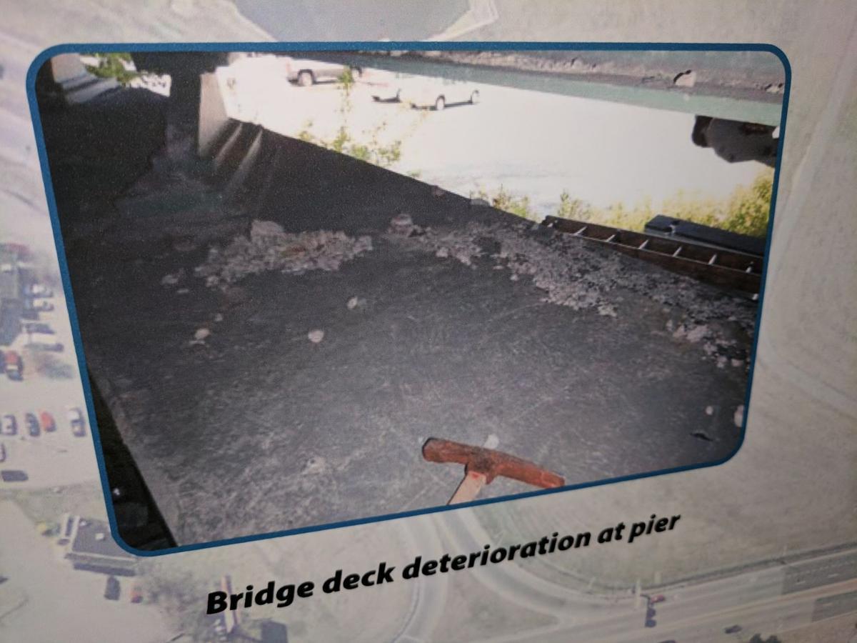 141 Bridge at US-13 in New Castle: Pier Deterioration