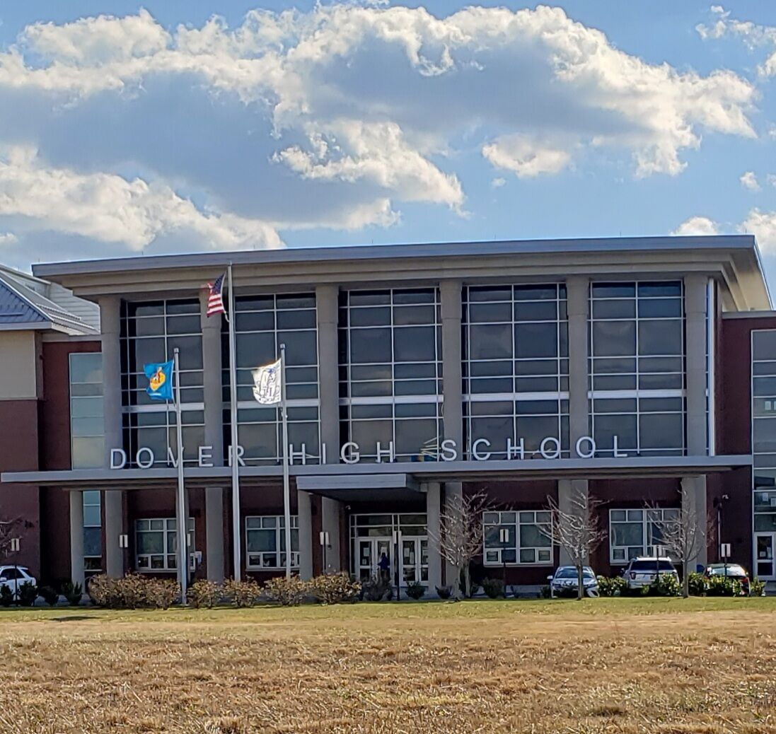 Dover High School main entrance