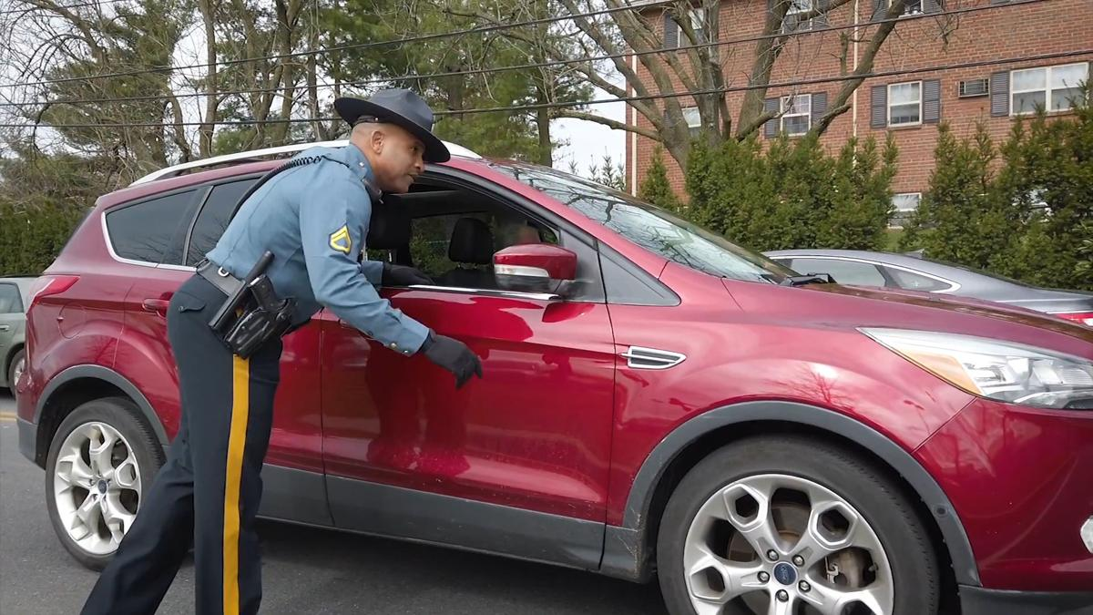 Delaware state police trooper driver motorist travel checkpoint