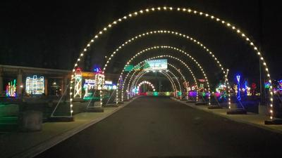 A light show on the Wilmington Riverfront