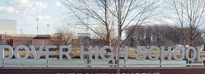 Dover High School entrance sign