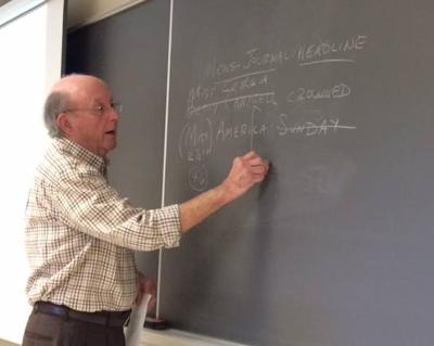 Bill Fleischman does a guest lecture at the University of Delaware in 2016
