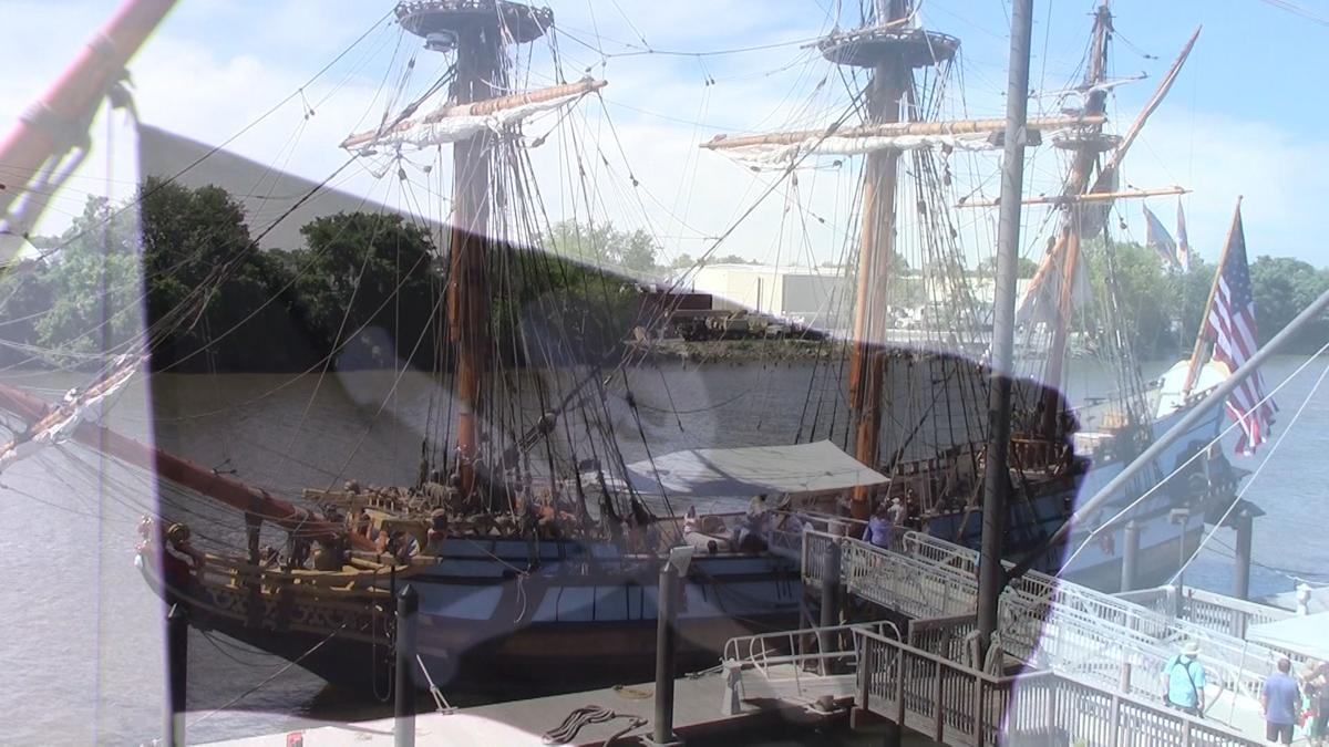 Video Delawares Tall Ship Gets Invaded By Pirates Festival On