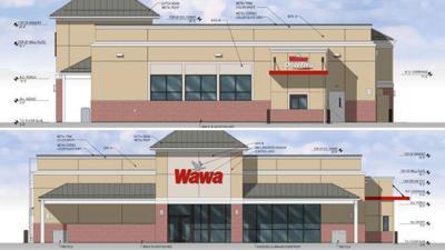 Wawa drive-thru rendering