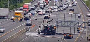 I-95 reopened after crash at the I-295 split