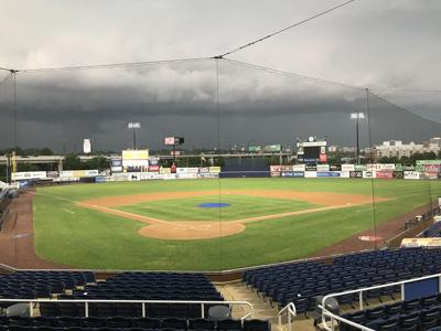 Storm clouds over Frawley Stadium