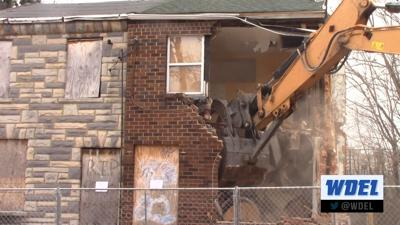 Two boarded-up Wilmington homes are demolished; partnership addresses blighted properties
