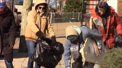 Despite frigid temperatures, MLK Day outdoor clean-up goes on in Wilmington