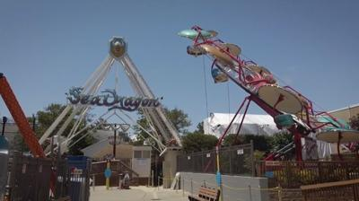 Funland's Sea Dragon and Paratroopers