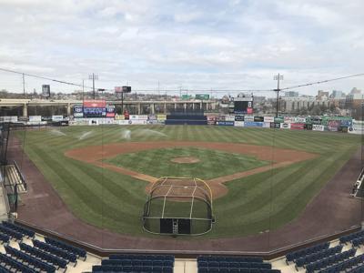 Frawley Stadium undergoes final preparations before the 2019 Carolina League Season