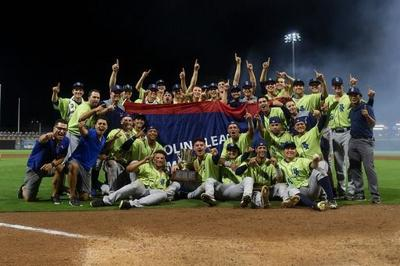 The Wilmington Blue Rocks celebrate their 2019 Mills Cup Championship