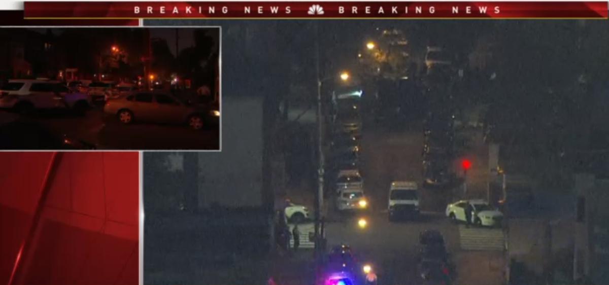 Philly police standoff nicetown-tioga night