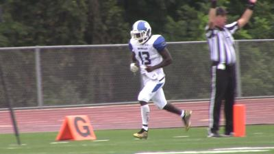 Tyhir Harley scores on a two-point conversion for Howard