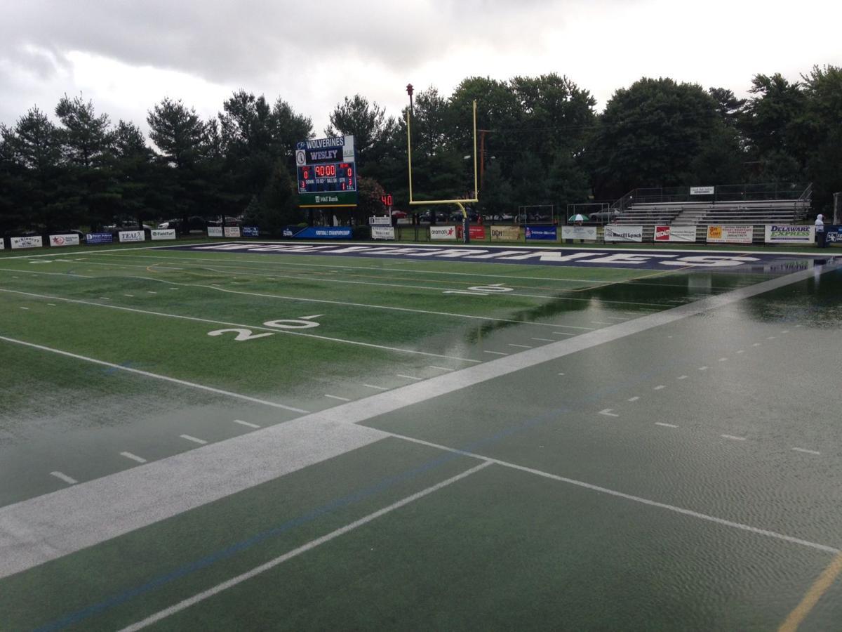 Rain-soaked Scott D. Miller Stadium