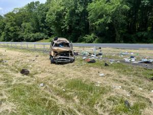 Two injured in I-95 rollover in Claymont