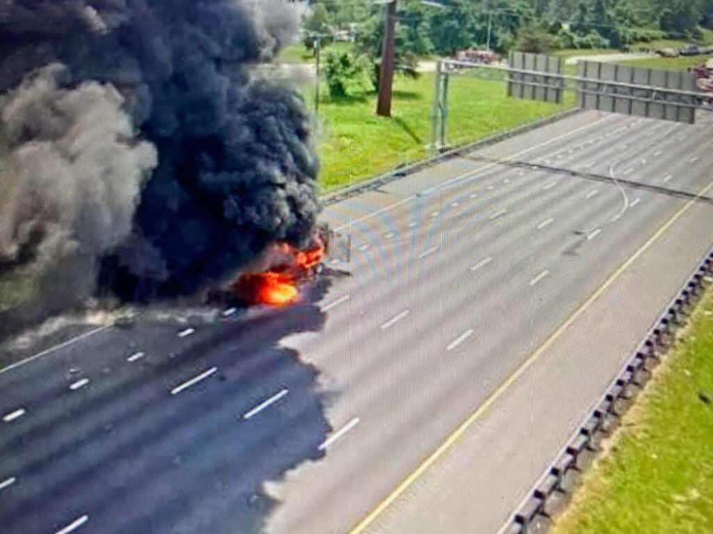 Peroxide burn off I-95 crash 060821