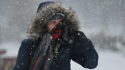 Freezing cold snow generic