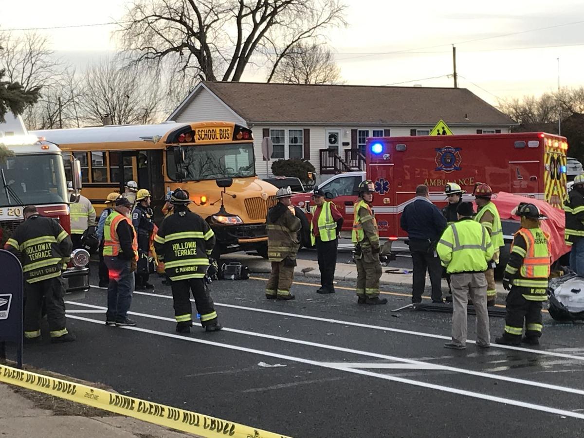 Car vs. bus crash 010920