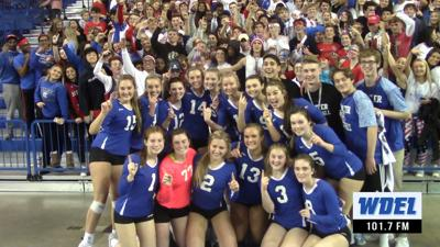Charter School of Wilmington celebrates the 2018 DIAA Volleyball Championship
