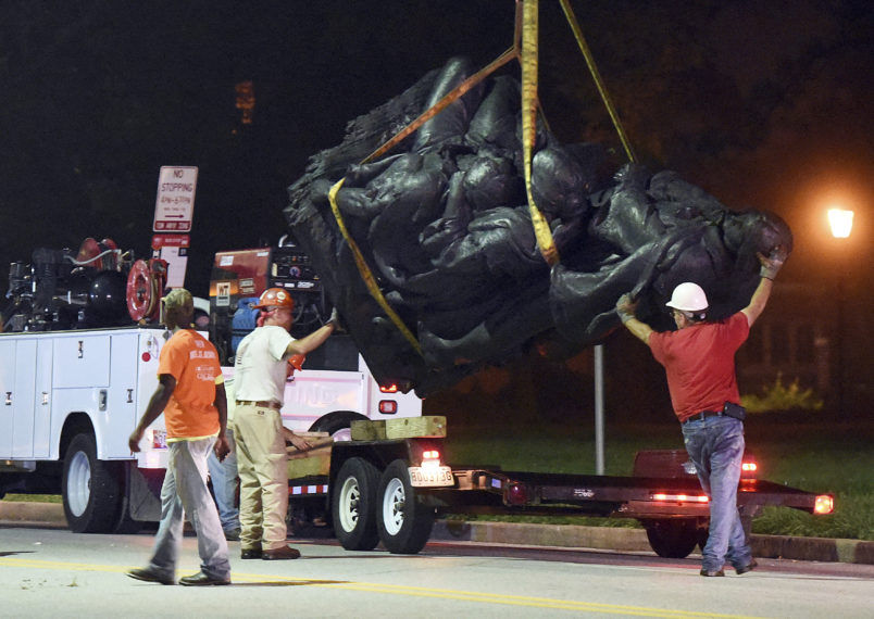 Baltimore Removes Four Confederate Statues In Dead Of Night