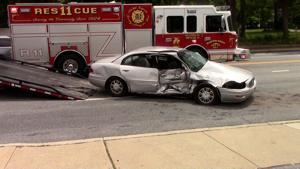 Philadelphia Pike crash sends 2 to the hospital