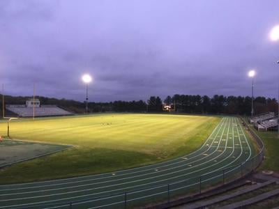 """Saint Mark's field is illuminated during a """"Friday Night Lights"""" tribute"""