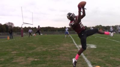 Hodgson's Ny'Ghee Lolley makes a catch against St. Georges