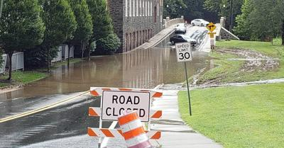 Flooding along Rockland Road on August 12, 2020