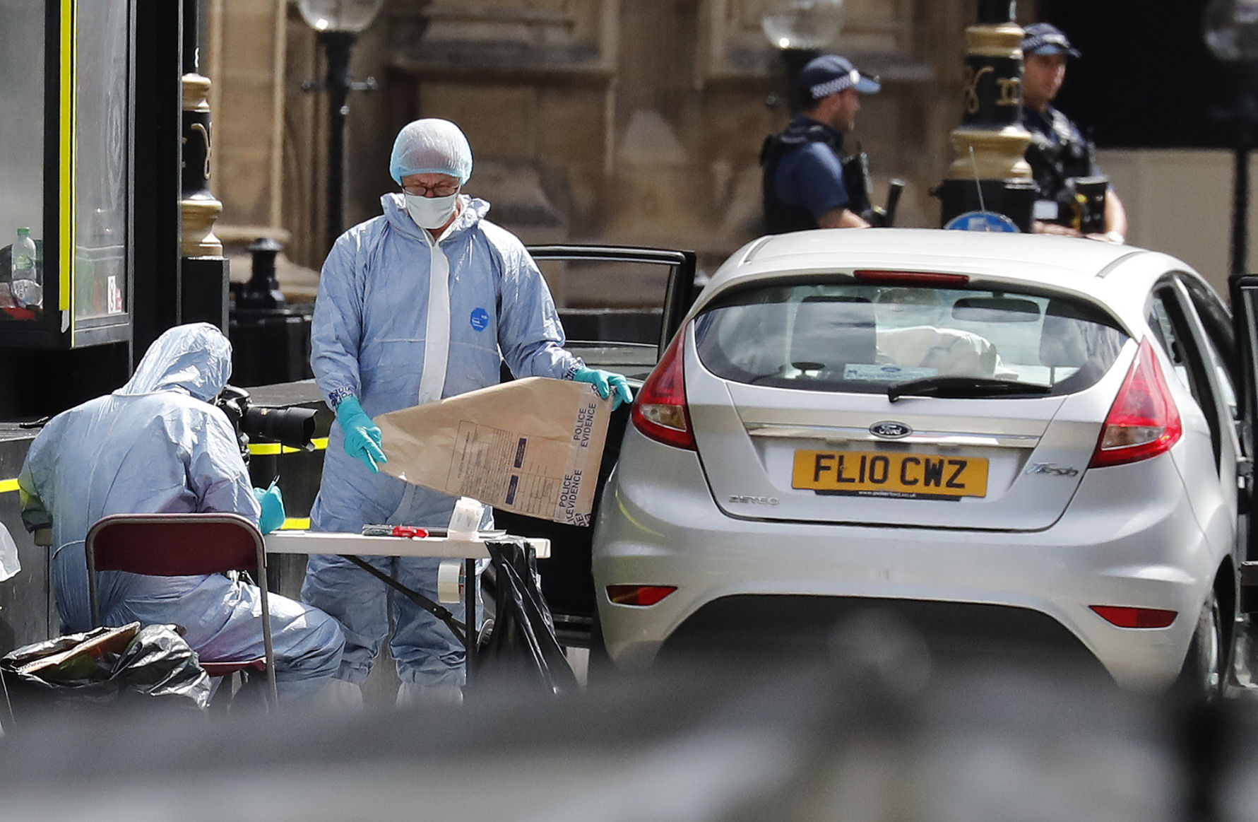 Crash outside UK Houses of Parliament treated as terror incident: police   WDEL