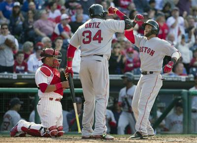 Phils can't answer Pedroia's HRs, Buchholz's arm in Opening Day loss