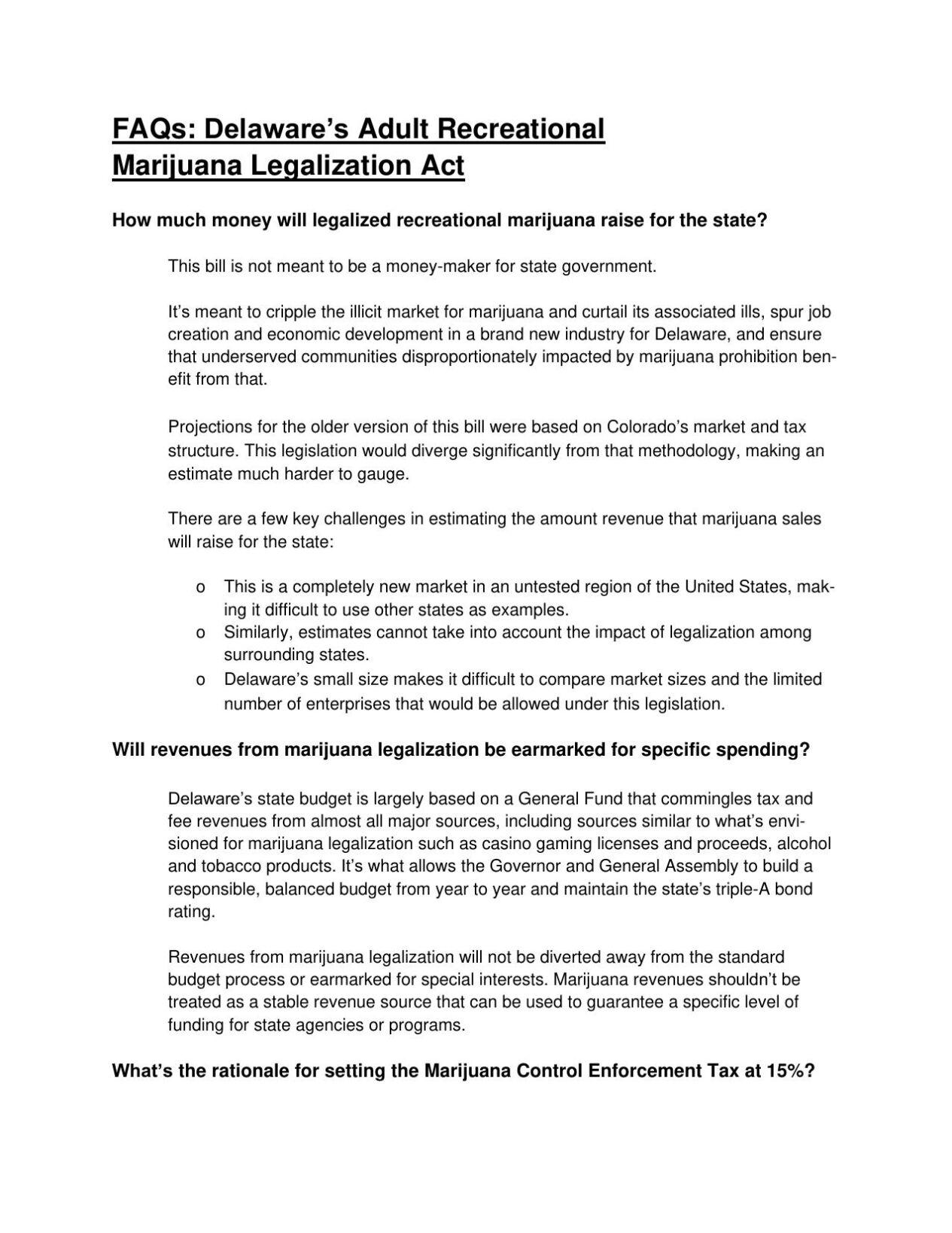 HB150 Marijuana FAQs