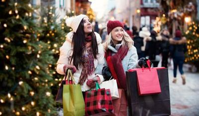 Holiday shopping friends