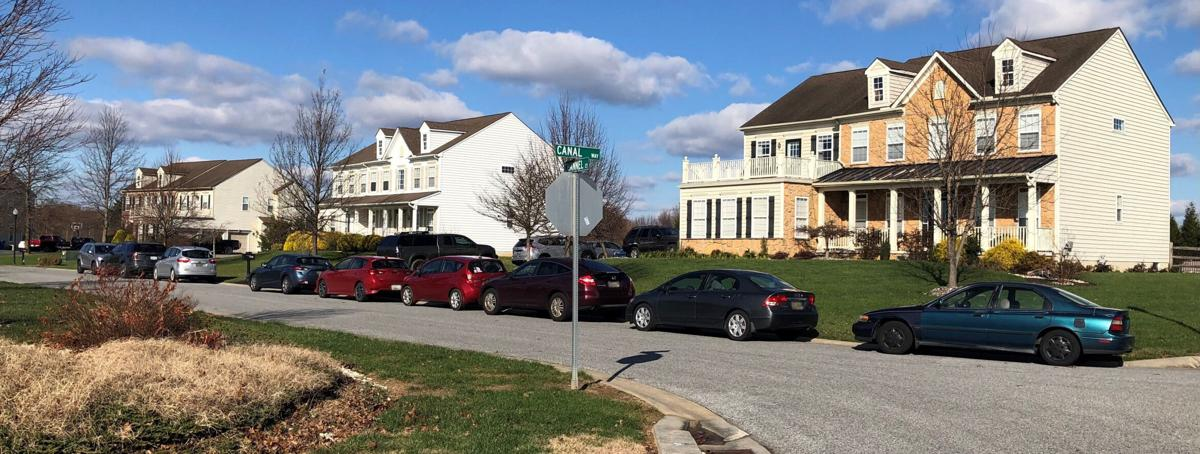 church attendees cars blurred