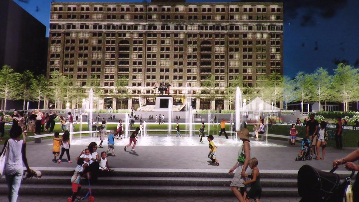 Rodney Square revitalization rendering