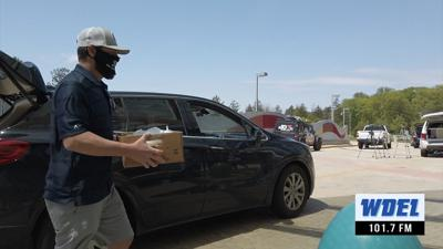 Kevin Frandsen makes a delivery at A.I. duPont Hospital for Children