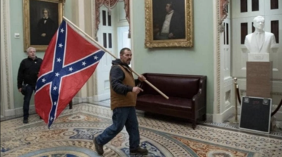 Confederate flag carried during Capitol chaos