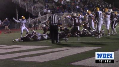 Caesar Rodney stopped short of the endzone by Caravel
