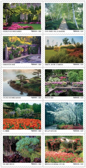 American Gardens stamps
