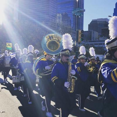 A.I. duPont marches in the 2018 Philadelphia Thanksgiving Day Parade