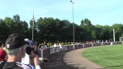 """Taylor Gillis made """"Sportscenter"""" with this catch in the 2019 DIAA Softball Semifinal against Caravel"""