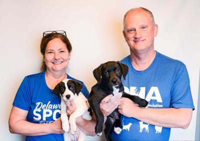 Anne Cavanaugh of Delaware SPCA and Patrick J. Carroll of DHA