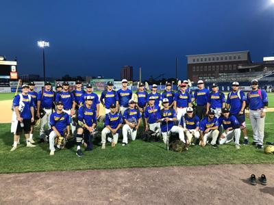 The Blue Team from the 2019 Blue-Gold Baseball Game