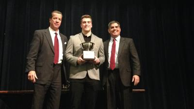 Brock Keeler receives the 2018 Maxwell Football Club Delaware Player of the Year Award