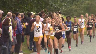 Padua's Lizzy Bader leads the pack in the Joe O'Neill Invitational