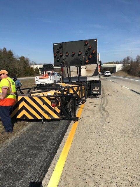 DelDOT truck hit on Rt. 1