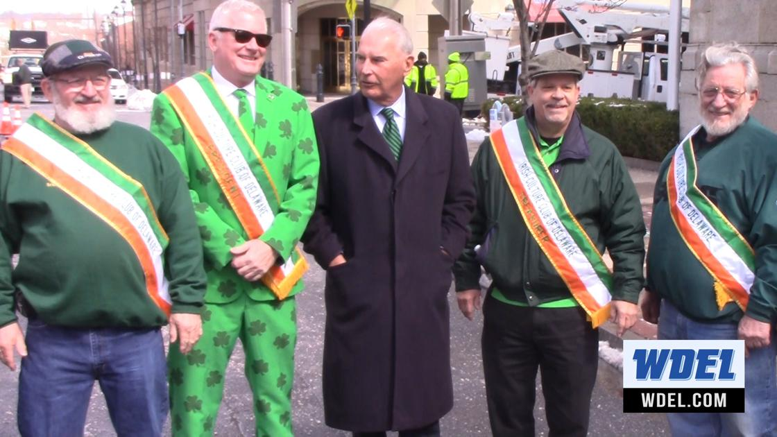 Wilmington gets a splash of green in preparation for St. Patrick's Day parade