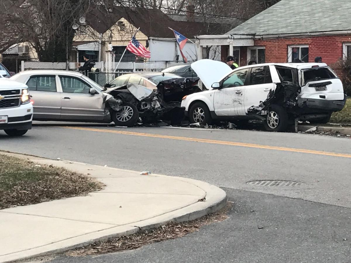 Three people sent to the hospital after a three-car crash in New ...