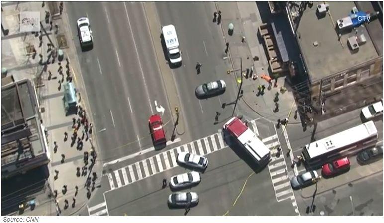 Update   Van speeds across Toronto sidewalks, leaving 10 pedestrians dead   WDEL