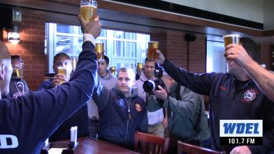 VIDEO: Firefighters raise glass of new 'Last Alarm IPA' in honor of fallen brothers
