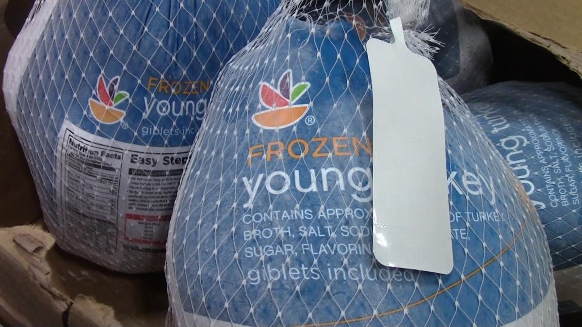 Giant turkey Food Bank donation